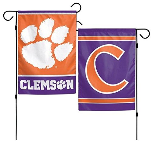 Clemson University Garden - WinCraft NCAA Clemson University Tigers 12x18 Inch 2-Sided Outdoor Garden Flag Banner