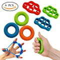 Greenfird Hand Resistance Bands Finger Stretcher Hand Extensor Exerciser Finger Grip Strengthener Strength for Relieve Joint Pain, Injury Rehabilitation,Relaxation and Rock Climbing