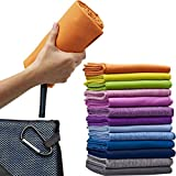Micro-Miracle XL (30-Inch-by-60-Inch) Soft Microfiber Travel Towel with Hand Towel and Nylon Mesh Carry Bag, Orange Sunrise