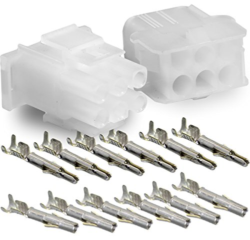 Molex -1 Complete Set - (6 Circuit) w/14-20 AWG, Wire Connector - 2.13mm D, Latch Lock, MLX