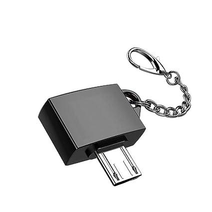Metal Micro USB macho a USB 2.0 un convertidor femenino OTG ...