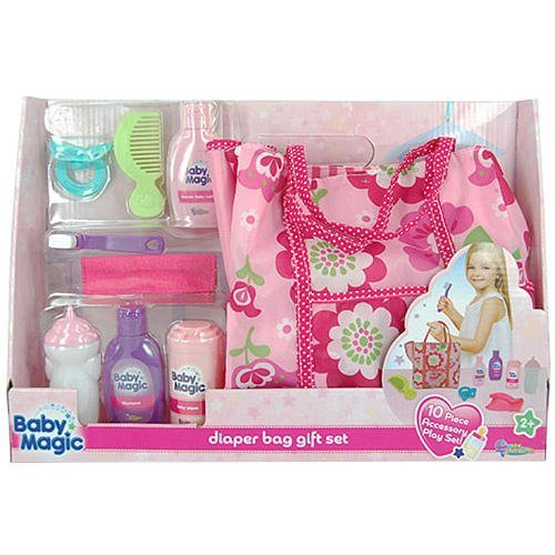 Baby Magic Doll Diaper Bag Gift Set – 10 Piece Accessory Play Set