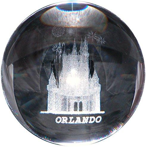 - CASTLE in 3D Laser art Crystal ball globe - GREAT souvenir from ORLANDO FLORIDA