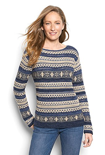 Orvis Women's Native Stitch Stripe Sweater, Medium