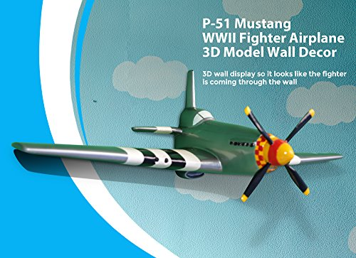 North American Aviation P-51 Mustang WWII Fighter Plane 3D
