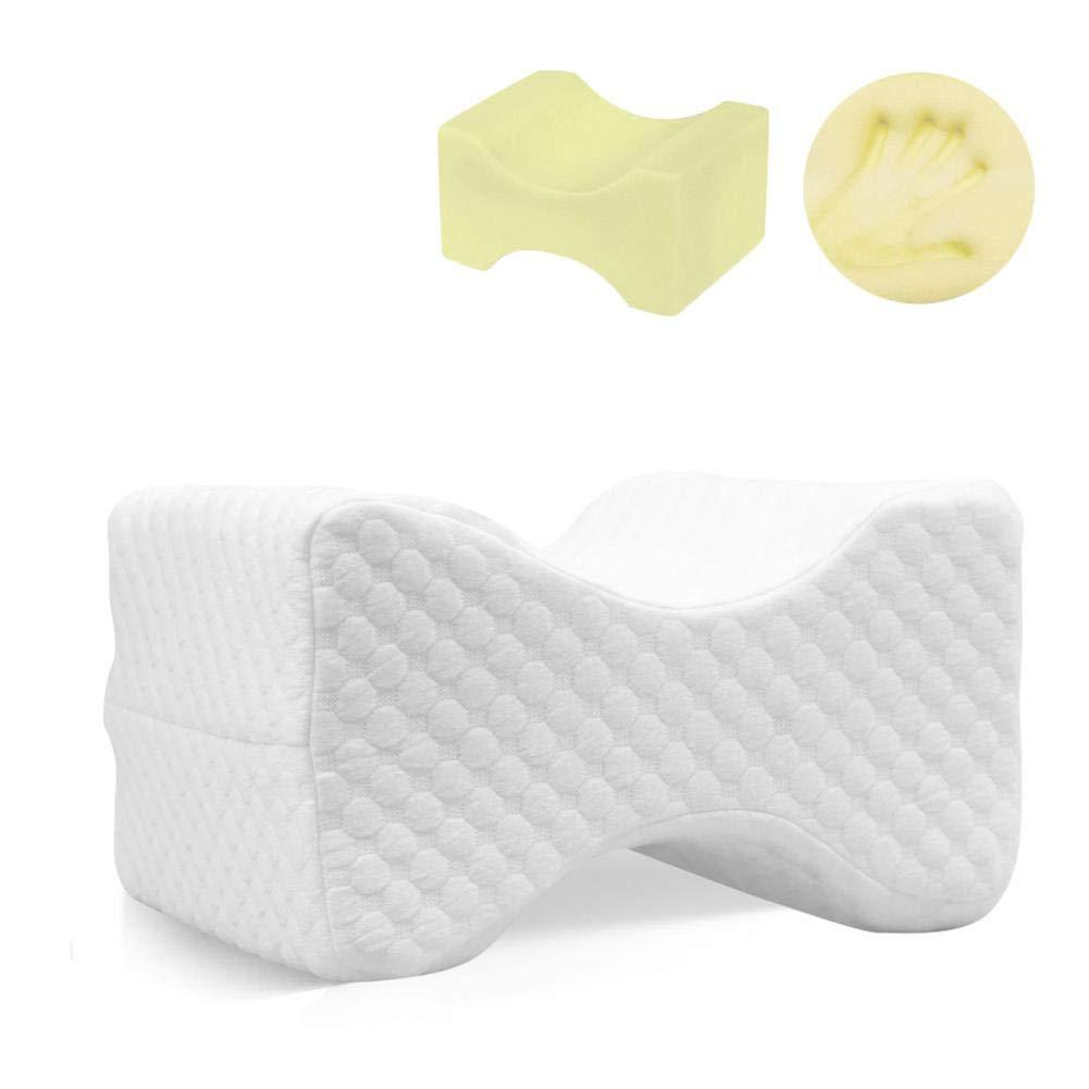 Almohadilla de la rodilla de la rodilla Almohada de la espuma de la memoria Ideal para el dolor de la rodilla posterior Durmientes del lado Cadera de la espina dorsal del embarazo de la cadera