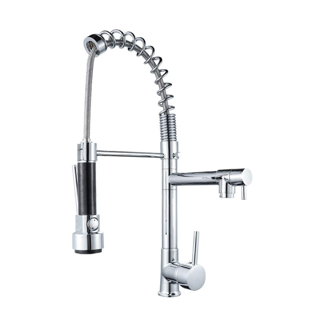 Magosca Modern Professional Single Handle Kitchen Sink Tap Pull Out Sprayer Mixer Taps Pull-out 360° Swivel Kitchen Mixer Tap Brass Fitting Pull Down Single Lever Basin Kitchen Water Tap