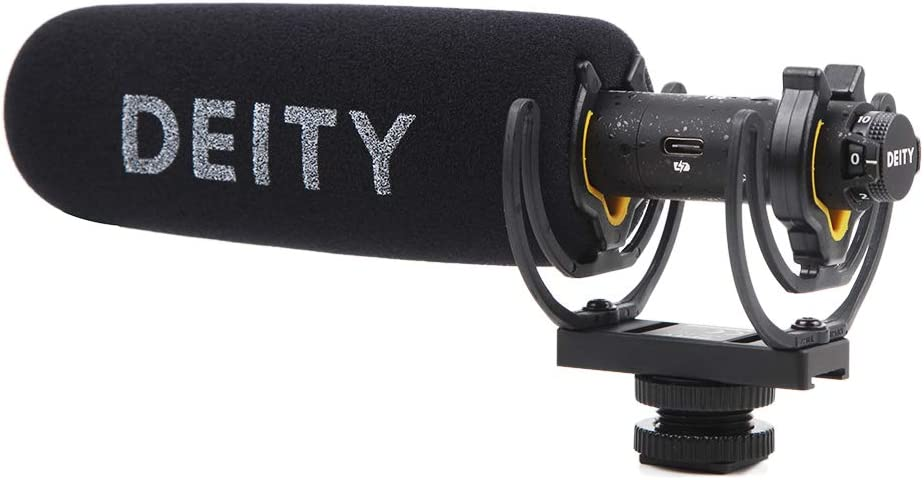 Laptop Tablets Deity V-Mic D3 Pro Location Kit Super-Cardioid Directional Shotgun Microphone with Rycote Duo-Lyre Shock Mount and PERGEAR Cloth for DSLRs Smartphones Handy Recorders Camcorders