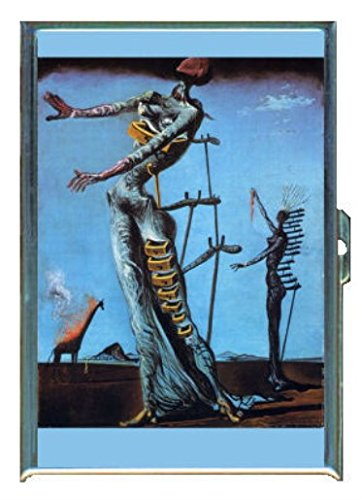 Salvador Dali Burning Giraffe Stainless Steel ID or Cigarettes Case (King Size or - Cigarette Dali Salvador Case