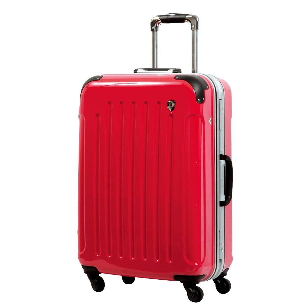 [グリフィンランド]_Griffinland TSAロック搭載 スーツケース 軽量 アルミフレーム ミラー加工 newPC7000 フレーム開閉式 B078JQXT5D SS(機内持込)型+【名前刻印】|ラディカルレッド ラディカルレッド SS(機内持込)型+【名前刻印】
