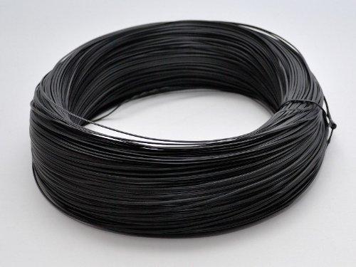 Firstcom Twist Ties Cable Binder Roll 820 Feet (250m) Black Reusable Steel Wire Plastic Coating (Twist Cutter)