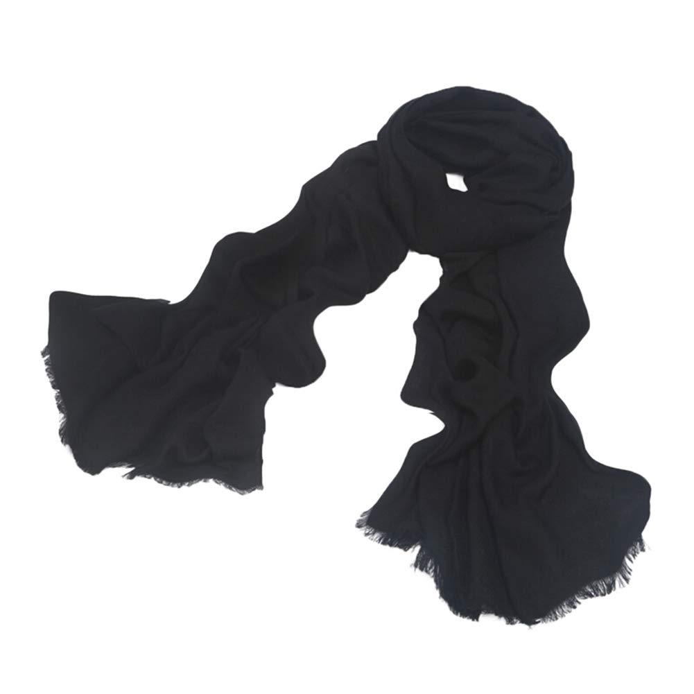 BLACK Long Scarves Wrap Shawl Long Stole Thick Style Scarf Headscarf Neck Wrap Stole MufflerWomen's Long Bib Autumn and Winter Plain Dual Purpose HENGXIAO (color   Light bluee, Size   200  70cm)