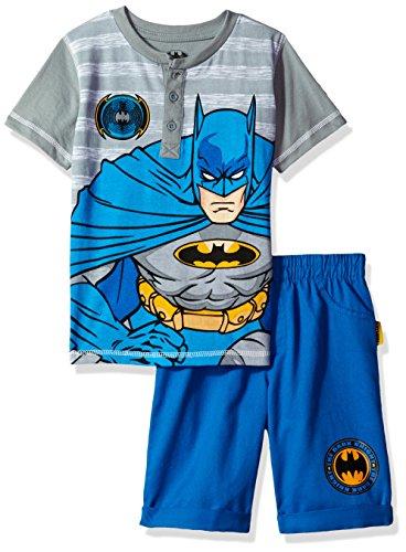 Warner Brothers Boys' 2 Piece Batman Henley and Twill Short Set at Gotham City Store