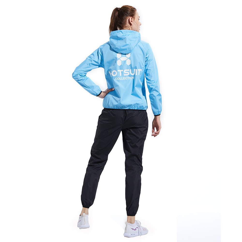 HOTSUIT Sauna Suit Weight Loss for Women Slim Fitness Clothes (Blue,Small) by HOTSUIT (Image #5)
