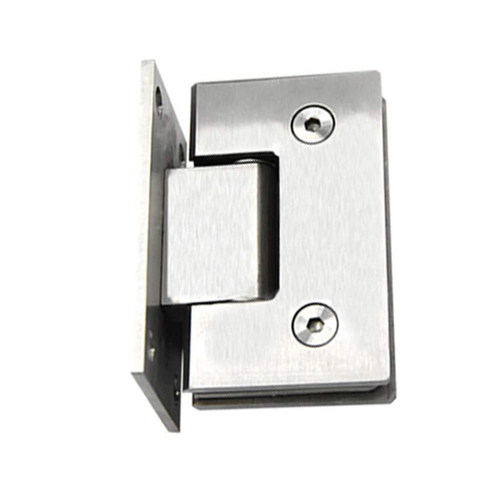 plateado 2 unidades bisagra de cristal de 90 grados montaje en pared para puerta de cristal//vitrina de vidrio para vidrio de 0.3 0.5 pulgadas Bisagras para puerta de cristal de acero inoxidable