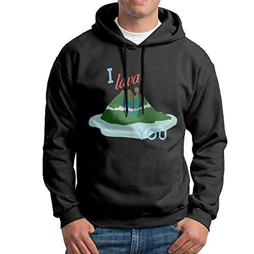 Bekey Men's I Lava You Volcano Pullover Hoodie Sweatshirt XL - Ford Shirt Tom Jersey