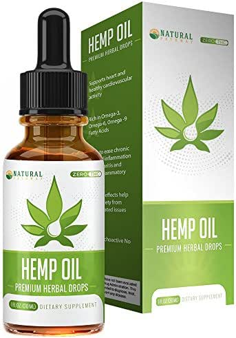 Hemp Oil for Pain Relief - All-Natural - Easy to Take Peppermint Flavor - Supports Calming and Relaxation - Rich in Omega 3 & Omega 6 Fatty Acids - 1oz Bottle - Natural Pathway