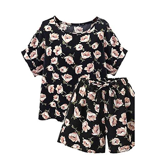 LUNIWEI Women Plus Size Floral Loose Top + - Items Sunglasses Promo