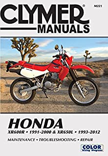 1993 xr650l wiring diagram example electrical wiring diagram amazon com 93 18 honda xr650l clymer service manual honda rh amazon com 2001 xr200 wiring publicscrutiny Choice Image