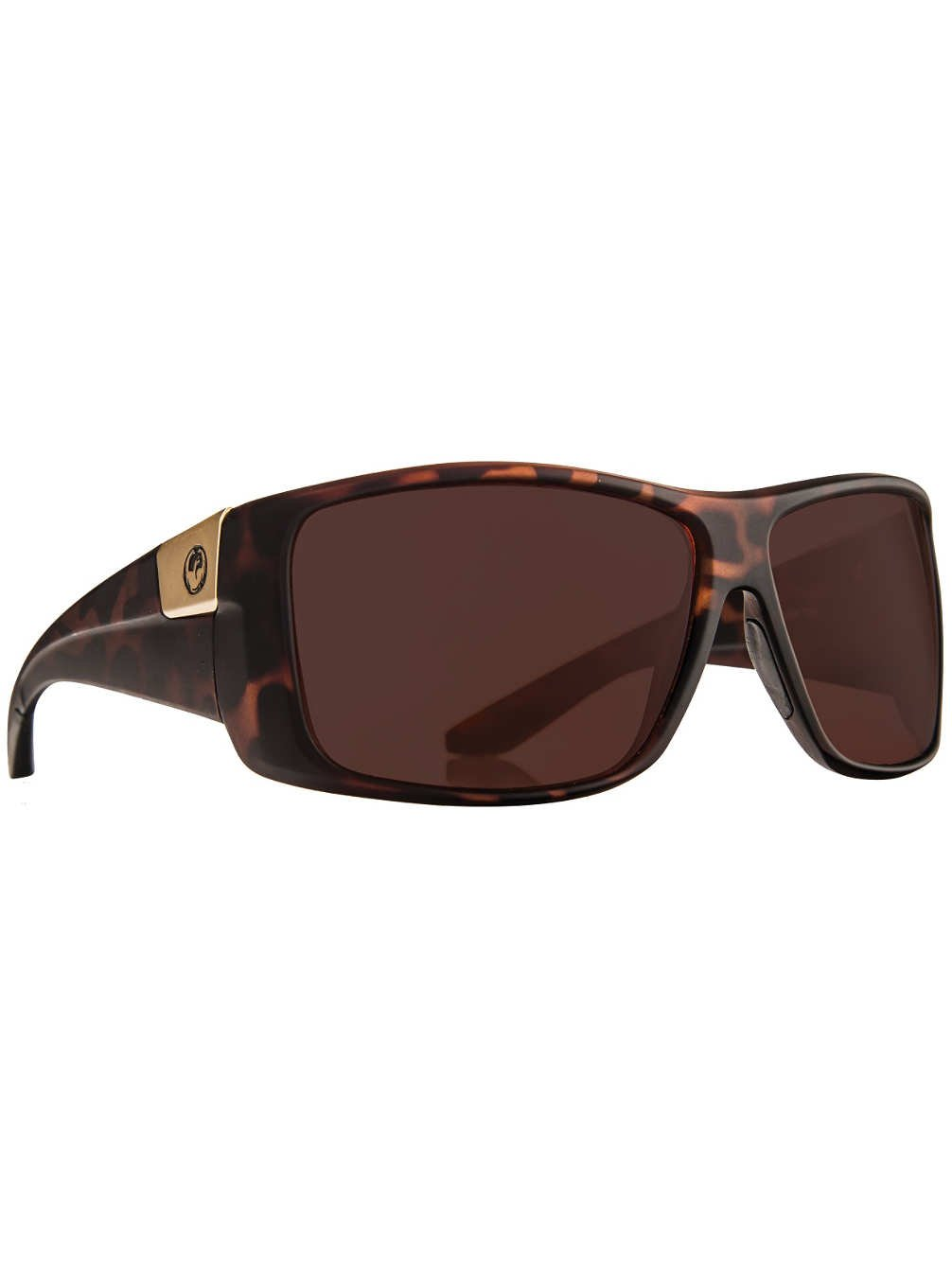 Dragon Mens Kit Polarized Large Fit Sunglasses, Matte Tortoise/Copper, One Size