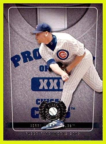 (2005 Fleer Patchworks Property of #6 Kerry Wood CHICAGO CUBS)