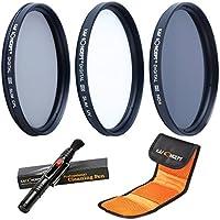 K&F Concept® Objektiv Filterset 62mm UV CPL ND4 Slim UV Filter 62mm CPL Filter 62mm Polfilter 62mm ND4 Filter Graufilter 62mm mit Reinigungsstift Lens Pen und Filtertasch