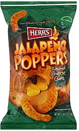 Herr#039s JALAPENO POPPER CHEESE CURLS Pack of 9 bags