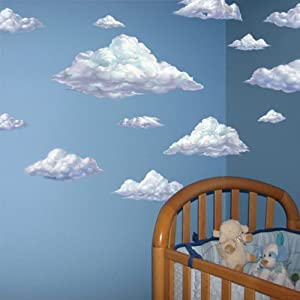 Attirant Sky Clouds Wall Mural Decals Peel U0026 Stick For Kids Room Walls