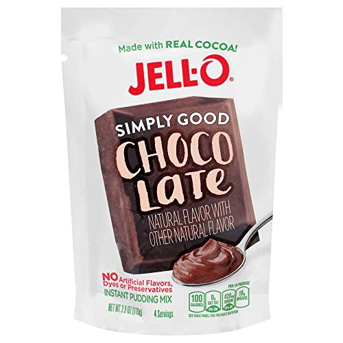 Instant Chocolate Pudding (Jell-O Simply Good Chocolate Instant Pudding Mix 3.9 Ounce Bag (Pack of 12))