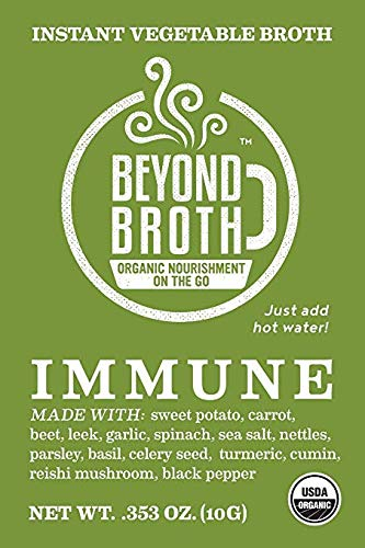 Cheap Beyond Broth – Immune Broth Packets – Vegan Instant Broth for Immune Support – USDA Organic Herbal Sipping Broth – (18 Packets)