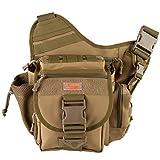 Piscifun Fishing Tackle Bags Single Shoulder Bags, Coyote Tan