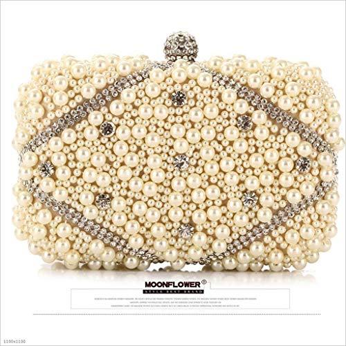 Ricamo Lylyss champagne Perline Signore Femminile Apricot Coreano Da Borsa Sera Craft Sera wrxq7BYr