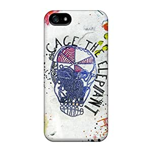 Protective Hard Phone Case For Apple Iphone 5/5s With Customized Attractive Cage The Elephant Image Hardphonecases