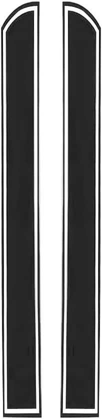 1 Pair Car Stripes Sport Racing Hood Decal Vinyl Front Auto Stickers Black