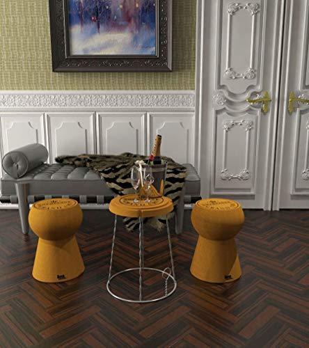 Beat Collection Champagne-2 Tabouret, 55 x 39 x 51 cm, Marron , 1 pièce
