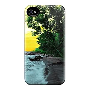 ConnieJCole Fashion Protective Colored Scenery Case Cover For Iphone 4/4s