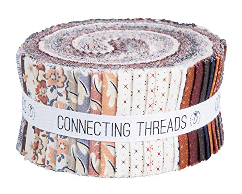 - Connecting Threads Print Collection Precut Quilting Fabric Bundle (Arcadian Dusk - 2.5