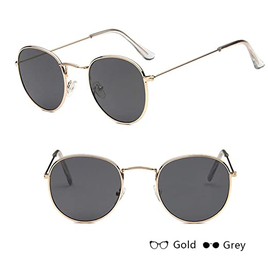 Yangjing-hl Gafas de Sol Redondas Coloridas de Moda Gafas de ...