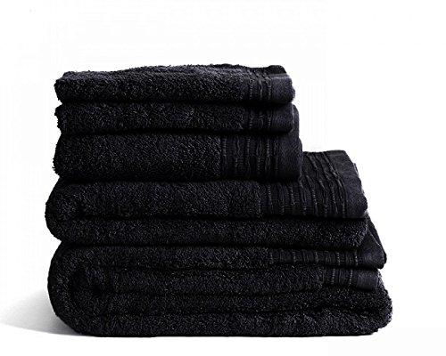 Luxury Supreme Handtücher aus 100 % ägyptischer Baumwolle, 700 700 700 GSM, Hotelqualität, schwarz, 10 Piece Bale B01N3VKRNM Sets 94b472