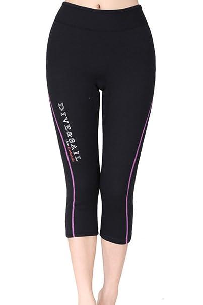 Amazon.com: Dive & Sail Mujer Trajes Pantalones Capri ...
