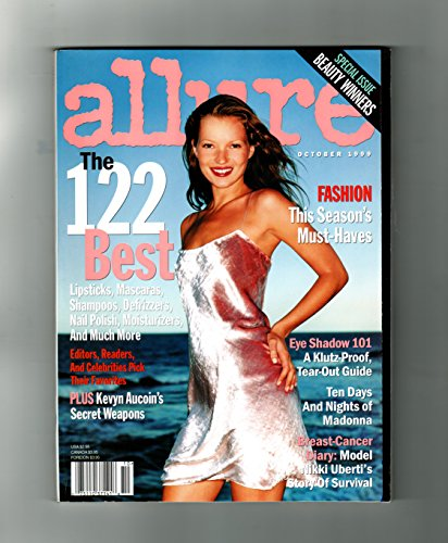 Allure Magazine - October, 1999. Kate Moss Cover. Julia Stiles; Amanda Peet; Wax to the Max; Fat Lip; Lilith Fair; Mary McCormack; Madonna; Kevyn Aucoin; 122 Best Cosmetics; Mom Was (Allure Magazine Best Beauty)