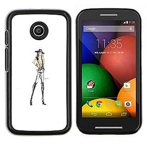 Caucho caso de Shell duro de la cubierta de accesorios de protección BY RAYDREAMMM - Motorola Moto E - tan delgada