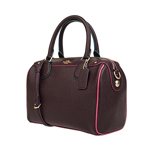 (COACH Womens Leather Hand shoulder bag F22237 (Wine red))