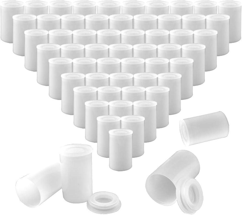 60 Stück Weiß Filmdosen Kunststoff Film Kanister Halter Kamera