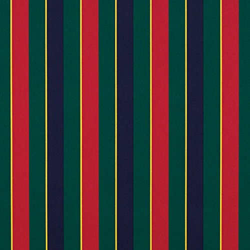 Navy Regimental - Sunbrella Navy/Green/Yellow/Red Regimental #4901-0000 Awning / Marine Fabric