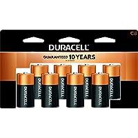 Duracell - Baterías alcalinas CopperTop C con paquete que se puede volver a cerrar - batería C de uso múltiple de larga duración para uso doméstico y profesional - 8 unidades