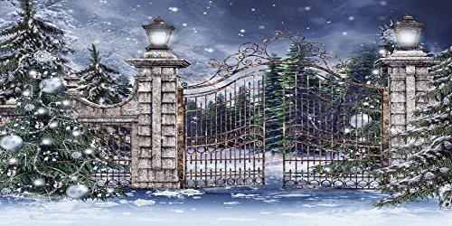 GladsBuy Shiny Snow 20' x 10' Digital Printed Photography Backdrop Christmas Theme Background YHA-097 by GladsBuy