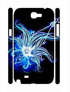 Modern Design Cool Neon Florals Durable Plastic Phone Skin Case for Samsung Galaxy Note 2 N7100