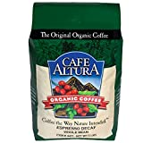 Cafe Altura Whole Bean Organic Coffee, Espresso Roast Mountain Water Decaf, 5 Pound
