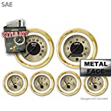 Aurora Instruments 2582 American Classic Style Kit (Gold Face, Black Modern Needles, Gold Bezels)